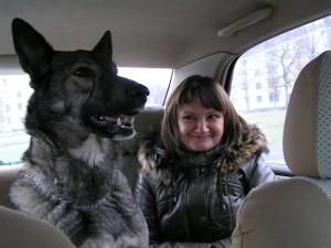 Оля и Настина собака