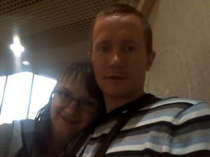 Я и Оля в Шереметьево-2