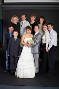 Фотография с друзьями и родственниками