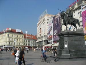 Трг бана Елачича. Центральная площадь Загреба
