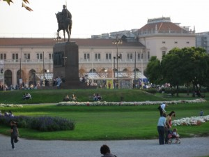Площадь перед железнодорожным вокзалом Загреба