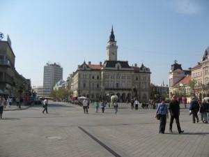 На площади в Нови-Саде