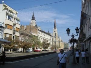 Вид на собор издалека. Нови-Сад