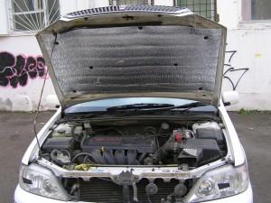 Утепление капота автомобиля