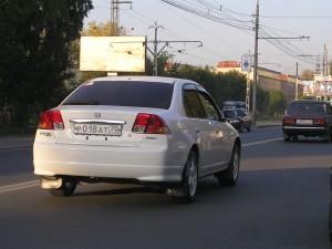 Машина серии рНННат с номером р018ат