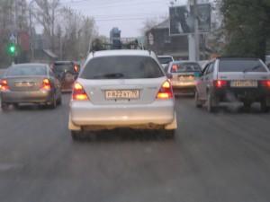 Хонда с номером р822ат (на ул. Красноармейской)