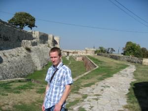 Еще на фоне стены крепости (Калемегдан)