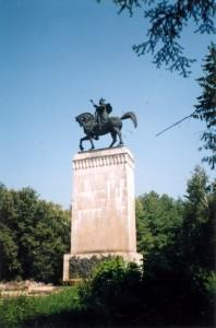 Памятник Стефану (или Штефану) в Сучаве (Румыния). 2001 год