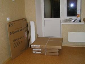Кухня из ИКЕА. Осталось собрать навесные шкафчики