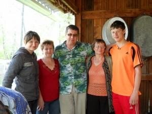 Фотография с родственниками из Подгорного