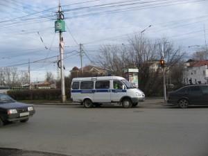 ГАИ припарковалась на пешеходном переходе