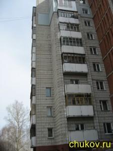 Утепление стен снаружи. Восьмой этаж