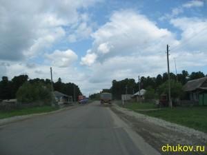 В конце деревни стоянка с кафе и магазином, там останавливаются обычно дальнобойщики